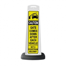 Valet White Vertical Panel Caution w/Reflective Sign P21