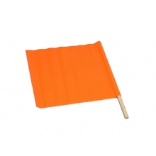 "Buy 18"" x 18""  Vinyl Warning Flag with 24"" Dowel on sale online"
