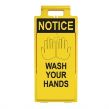 Lamba Floor Stand - Notice Wash Your Hands