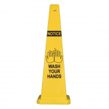 "Lamba 36"" Safety Cone -  Notice Wash Your Hands"