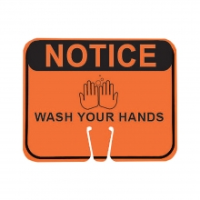 Cone Sign - Notice Wash Your Hands