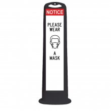 Trailblazer XL Black Vertical Panel - Notice Please Wear A Mask