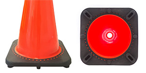 Black Base Traffic Cones
