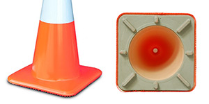 Solid Base Traffic Cones